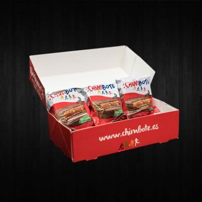 alfajores chimbote de dulce de leche y chocolate belga