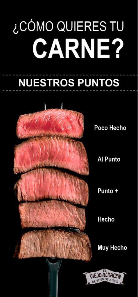 elige punto de carne como lo quieras